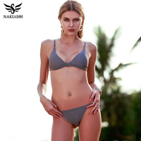 NAKIAEOI 2017 New Sexy Micro Bikinis Women Swimsuit Swimwear Halter Brazilian Bikini Set Beach Bathing Suits