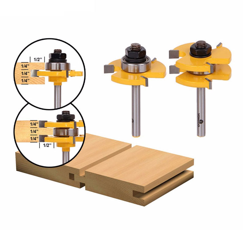 1/4 Shank 2 Bit Tongue and Groove Router Bit Set1/4 Shank 2 Bit Tongue and Groove Router Bit Set
