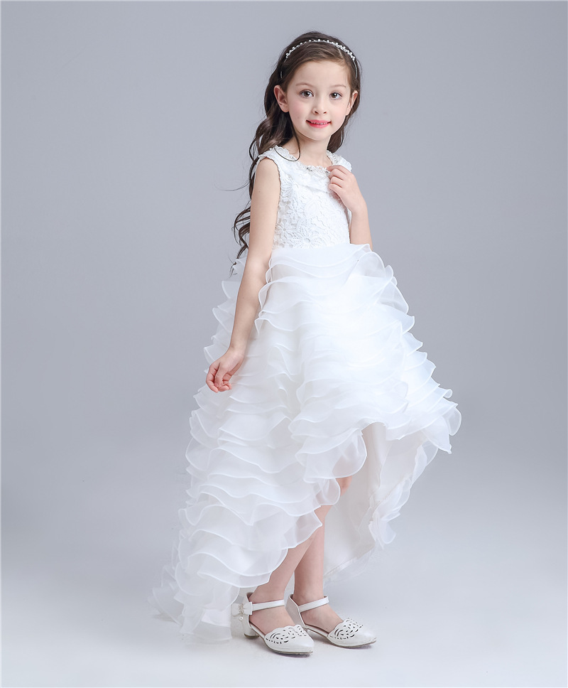 2016 Summer girls dresses baby girls Long Priness dress  Kids clothes two colors  party tutu dresses for girl in factory outlet girls dress baby dress girls flowers tutu kids dress for girls summer floral knee length dress for girls clothes 2016 c532q125
