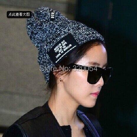 1 piezas 2014 nuevas letras de Corea BOWLLER gorro de punto sombreros - Accesorios para la ropa