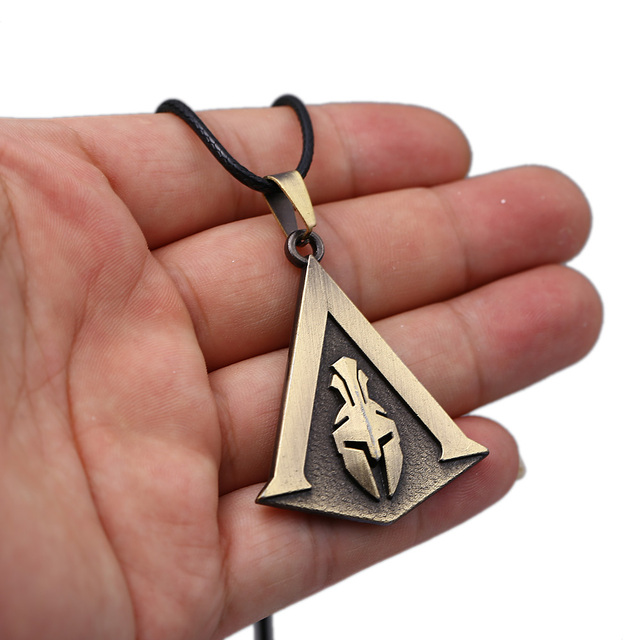 Assassin's Creed Odyssey Necklace Assassins Logo Metal Pendant Rope Chain Choker Necklaces Toy Men Charm Gifts Game Jewelry 4