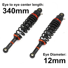 Universal 13.5 340mm Motorcycle Air Shock Absorber Rear Suspension Spring Damper Replacement For Yamaha Black D30