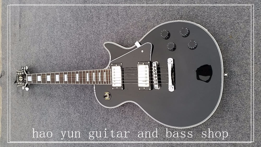 in stock Hot!!  custom shop 1959 R9 VOS Black custom LP electric guitar,Custom black chrome hardware LP guitar,Free shipping human in stock 1959 r9 honey burst chinese lpaul lp style standard electric guitar with ems free shipping