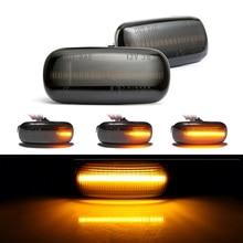 2 stuks Led Dynamische Zijmarkeringslicht Richtingaanwijzer Sequential Blinker Licht Voor Audi A3 S3 8P A4 b6 B8 B7 S4 RS4 A6 S6 C5