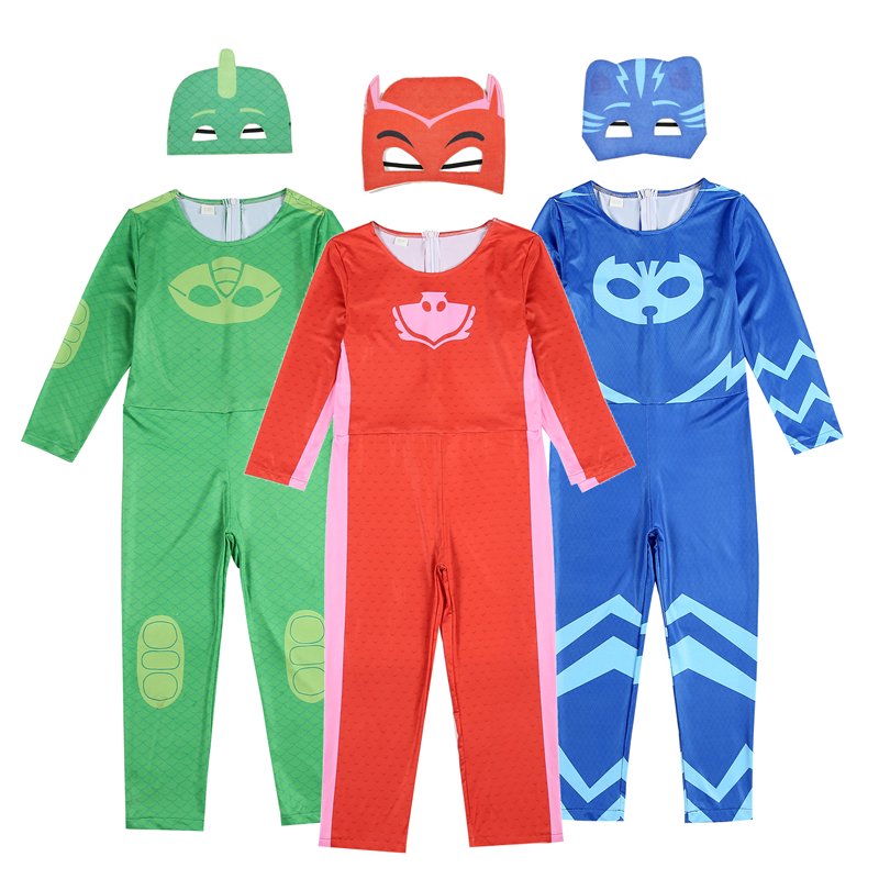 Clothes Suits For Boys Girls Cartoon Costume Masks Hero Costume Child Carnival Halloween Catboy Pajama Hero Kids Clothing Sets браслеты exclaim легкий браслет цепочка с миниатюрными цирконами