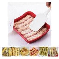 الغذاء سيليكون السجق العفن العفن السجق رف السجق مربع هوت دوج صانع أدوات المطبخ الخبز