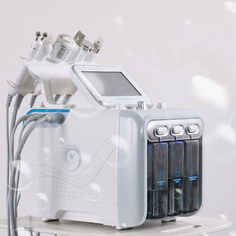 6 In1 H2-O2 Hydro Dermabrasion RF Bio-lifting Spa Facial Hydro Microdermabrasion Machine