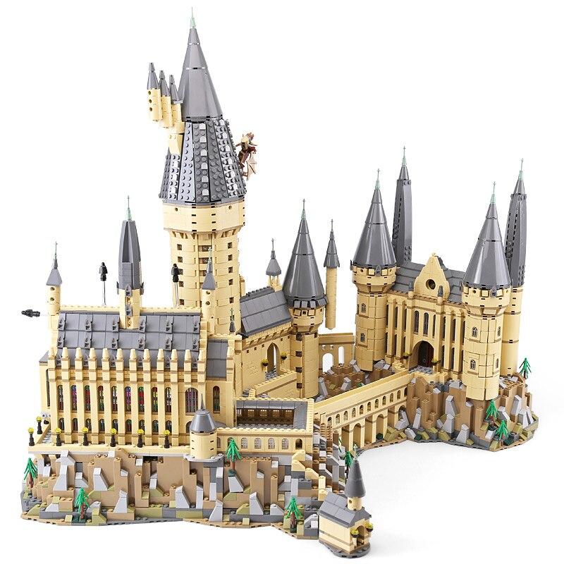 Лепин 16060 Гарри киношедевры школы Поттер Совместимость legoingly 71043 Замок Хогвартс Набор строительных блоков модели детские игрушки подарок
