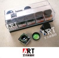 Gratis verzending ART transparante kleur 10 kleur 30 ml/een fles aquarel pigment pure vloeibare pak Glas fles monteren