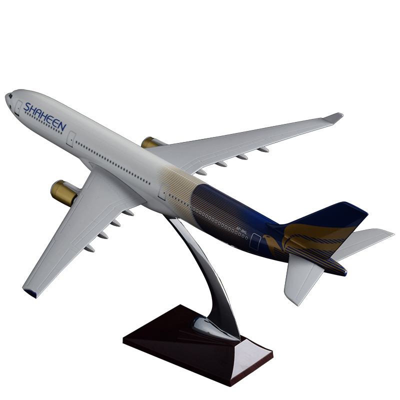 40cm Pakistan Shaheen A330 Air Airbus Model Airplane Airways Resin Pakistan Aircraft Model Aviation Stand Craft Gift Collection new phoenix 11207 b777 300er pk gii 1 400 skyteam aviation indonesia commercial jetliners plane model hobby