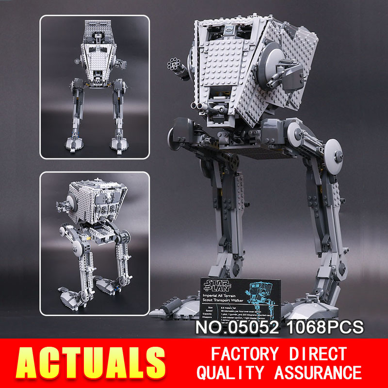ФОТО New Lepin 05052 1068pcs Out of print empire AT ST Building Blocks Bricks Model Toys Boys Gifts