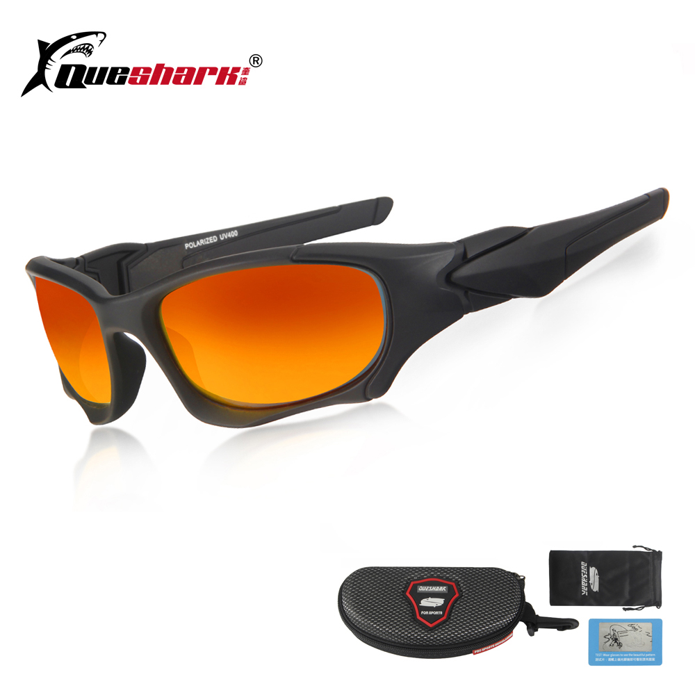 Queshark TR90 Hiking Eyewear Sports Polarized Fishing Sunglasses Men Women Uv Protection Camping Goggles Climbing Glasses