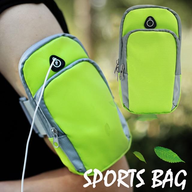 2ca8bef221e6 Универсальный смартфон нарукавная спортивная сумка для бега чехол для  iPhone samsung водостойкий мобильный телефон наушники ключи