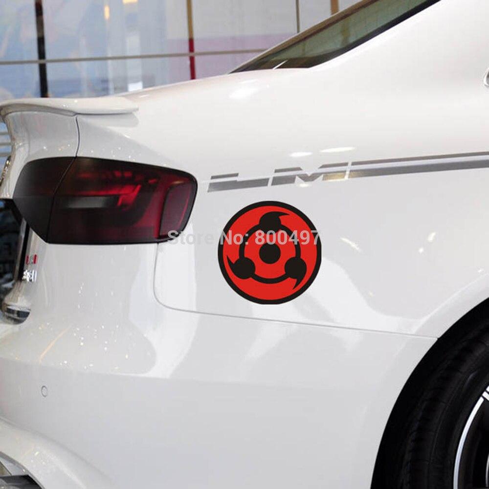 10 x naruto uchiha sasuke car body stickers car decal for toyota ford chevrolet volkswagen tesla honda hyundai kia lada