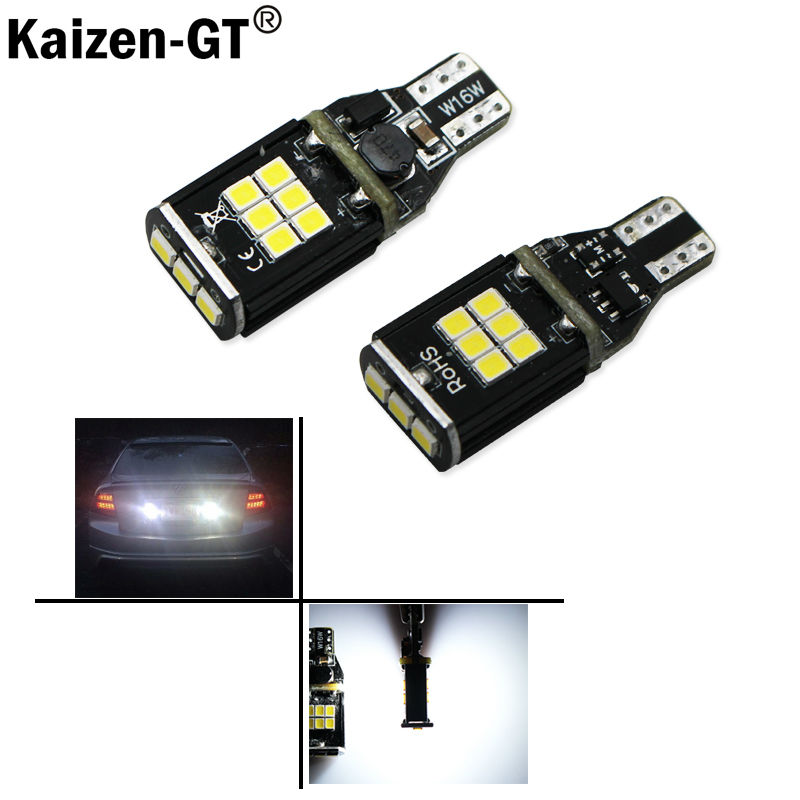 2pcs 921 912 T15 W16W LED CANBUS Error Free Car Reverse Light Backup Turn Signal Bulb Lamp W16W WY16W White Amber 2 x error free super bright white led bulbs for backup reverse light 921 912 t15 w16w for peugeot 408