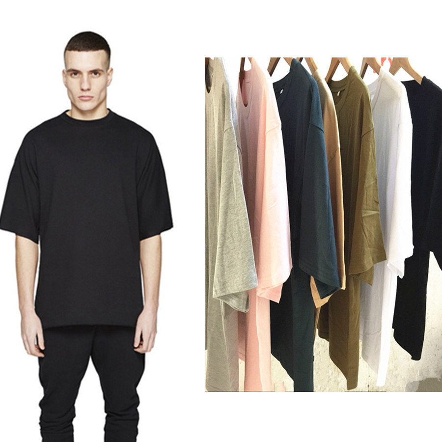 Plain black t shirt style - 2016 Summer New Fashion Mens Baggy Hip Hop Short Sleeve Tshirt Loose Fit O Neck Half