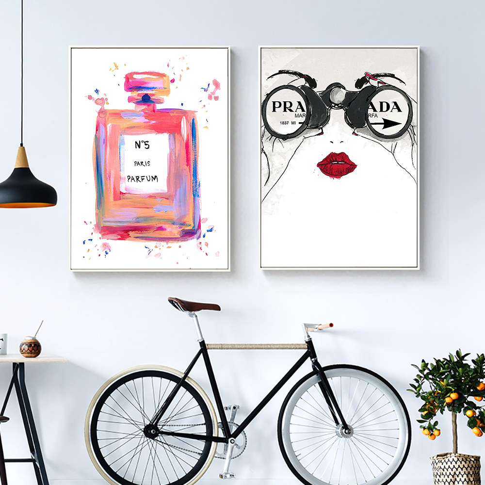 Perfume Bottle Poster Quotes Nordic Wall Art Fashion Posters And Prints Canvas Painting Wall Pictures For Living Room Home Decor