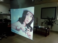1.524m*4.5m wall projection screen self adhesive Rear projection film,White rear projection foil for shop window