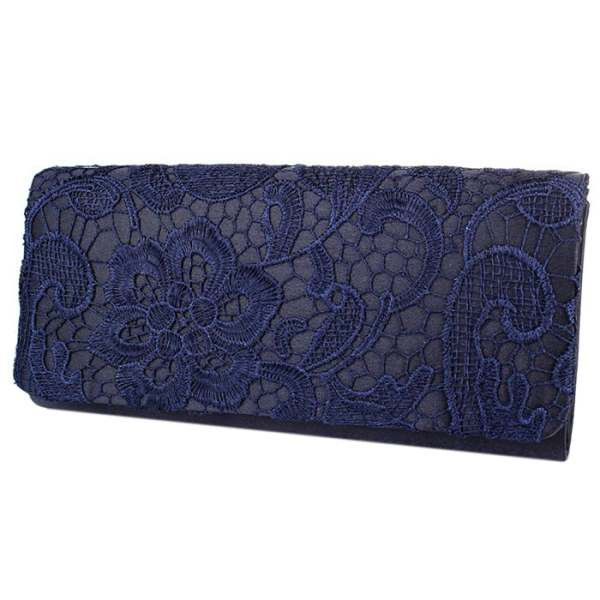 Bridal Wedding Satin Evening Bags Lace Floral Day Pouch clutch women Purse Party lace detail satin slips