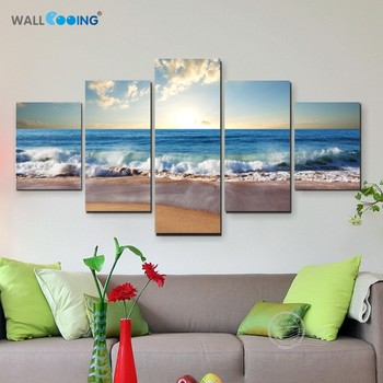 5 pcs Sea painting modern pictures on the wall 1
