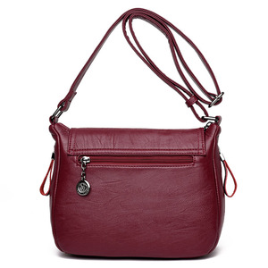 Image 3 - 2019 New Women Leather Messenger Bags Luxury Handbags Women Bags Designer Female Crossbody Vintage Shoulder Bag Ladies Bolsas