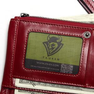 Image 5 - Bolso de teléfono para mujer, Cartera de cuero genuino con cera de aceite suave, bolso de mano largo de diseñador para hombre, billetera de marca de lujo, monedero con cremallera