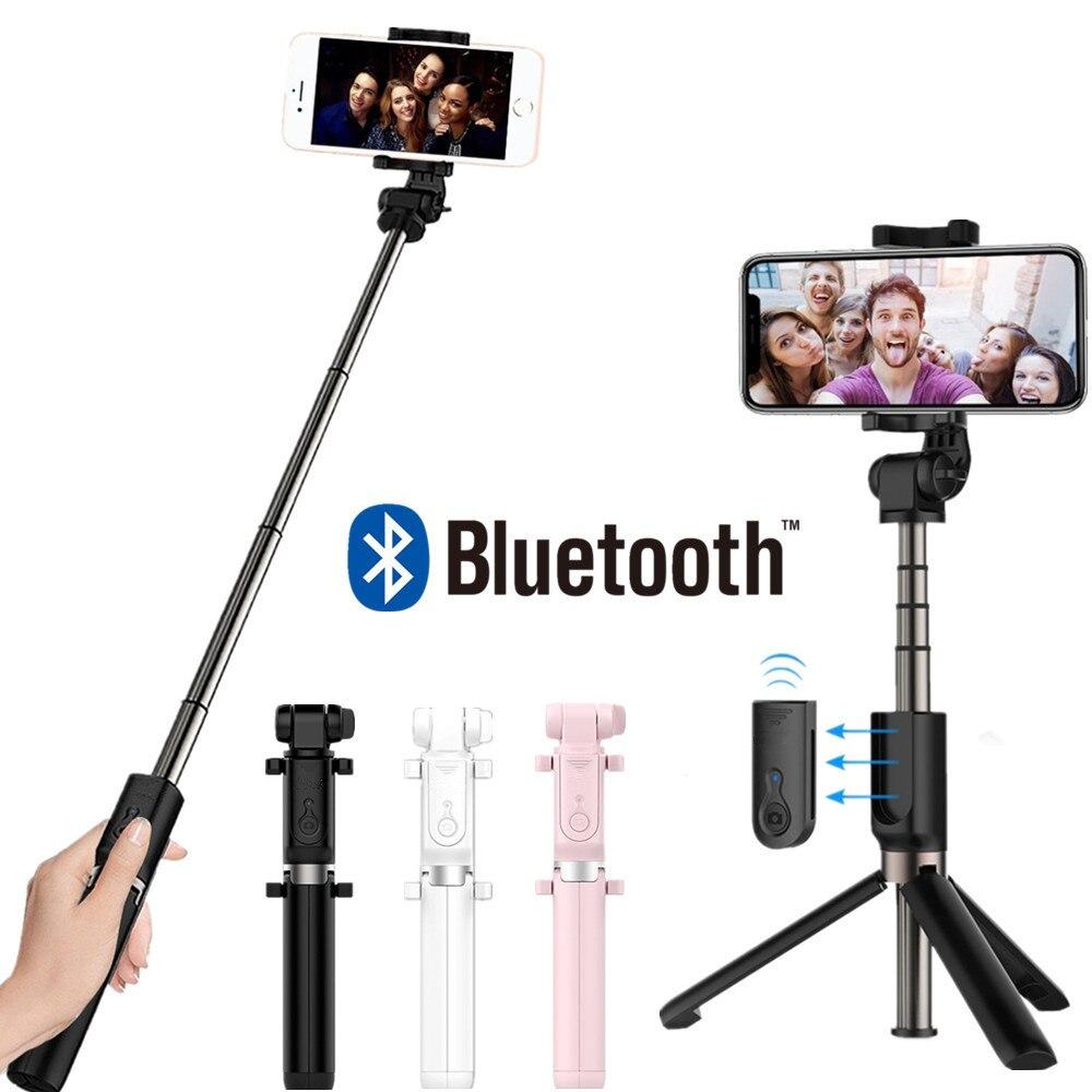FGHGF 3 en 1 Sans Fil Bluetooth Selfie Bâton Mini Trépied Extensible monopode Universel Pour iPhone 8X7 6 s Plus Pour Samsung