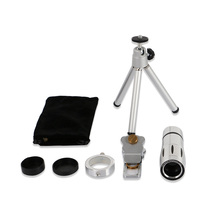 Cheap price 12x Zoom Telephoto Lentes Microscope Fish eye Wide Angle Macro lens Telescope Camera Lenses kit Bluetooth Shutter For Cell Phone