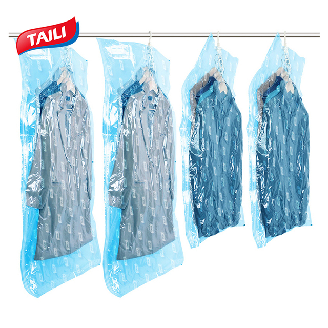 Vacuum Bags For Clothes Hanging Wardrobe Storage Organizador Cover E Saver Bag Package