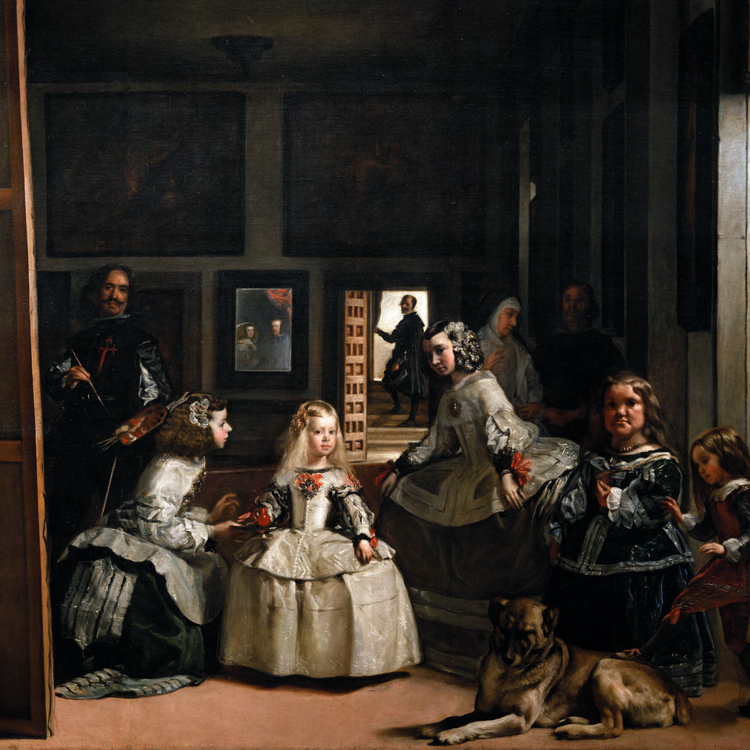 Giant poster classical portrait canvas painting home art picture Velazquez Diego Rodriguez  The Family of Felipe IV Las Meninas