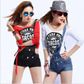 Womens Sexy jeans denim shorts 2017 Summer Fashion cotton Inclined single shoulder Suspenders shorts Skinny short pants Ladies