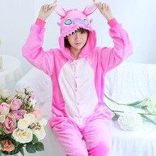 Free Shipping Animals Pajamas Adults Flannel Anime Pajama Cartoon Unisex Cosplay Animal Pajamas For Women One Piece Pajama WM001