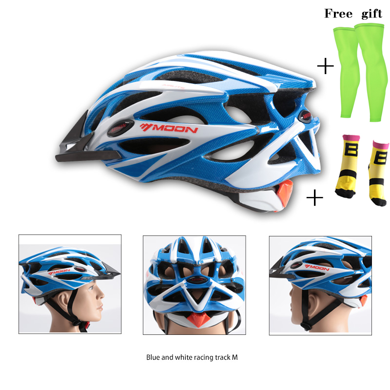 MOON Cycling Helmet Bicycle Casco Ciclismo Bicycle Helmet Bike Helmet mtb Road and Mountain Helmet with Cycling Sock Leg Cover moon 180g cycling helmet ce certification bike ultralight bicycle helmet casco ciclismo road mountain mtb bike helmet