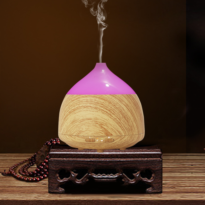 100ml Aroma Diffuser Aromatherapy Wood Grain Essential Oil Diffuser LED Light Ultrasonic Cool Mist Humidifier for Office Home aromatherapy aroma mix
