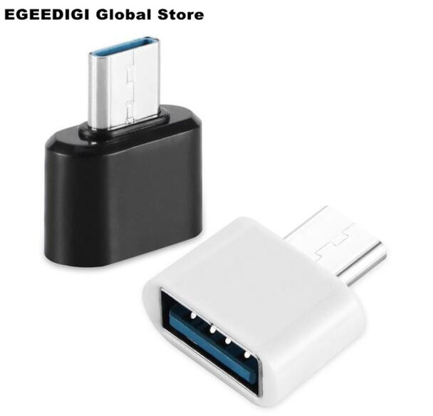 EGEEDIGI OTG Cable USB 3.0 2.0 Adapter Type C For Samsung Galaxy S8 S9 HUAWEI P10 P20 Mate10 Pro Macbook