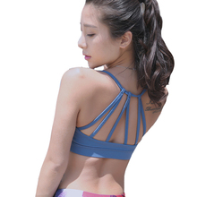 2016 New Sexy Women Sports Running Fitness Athletic Yoga Bra Seamless Underwear Push Up Backless Hollow Out Running Sports Bra