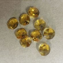 1 Hole 2000pcs Crystal Chandelier Lighting 14mm Octagon Beads Prisms Suncatchers Wedding Strand Accessories