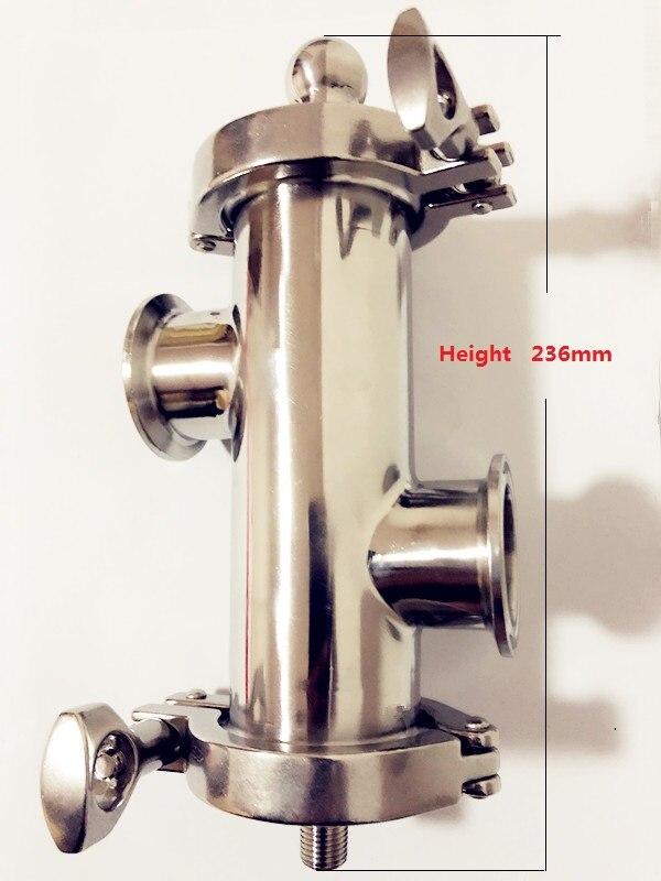 Gratis Verzending 2 (51mm) OD64 Gin Mand Set Voor Destillatie, 2 * Side Poorten 1.5 (38mm) OD50.5 Met Filter Van V 180ml, SS304 - 3