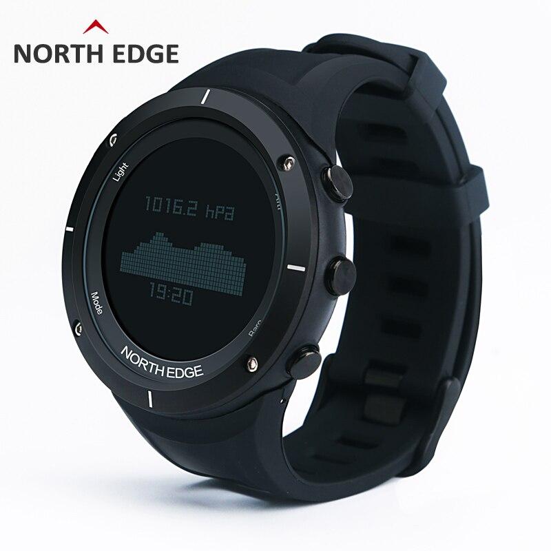 Homem desporto ao ar livre digital smart watch 50 m à prova d' água pesca Altímetro Barômetro Termômetro Bússola Altitude horas AO NORTE de BORDA