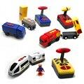 Электрические игрушечные локомотивы с пультом дистанционного управления  подходят для игрушечных автомобилей  поездов Brio Harmony и синих и кр...