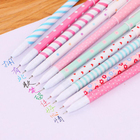 10 Pcs/Set Star Pens Set Cute Animal Flower Color Ink Ballpoint Pens for Signature Writing Stationery Office School Supplies