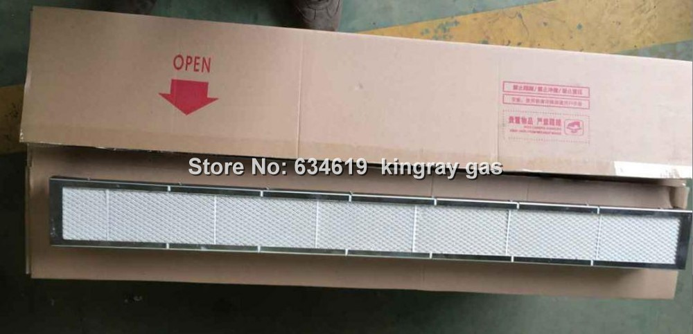 1000mm (jeden metr) dlouhý grilovací mřížka náhradní plynový infračervený hořák pozinkovaná deska kordieritová keramická deska plynový hořák
