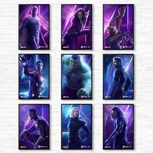 Marvel Poster Movie Avengers Endgame Superhero Picture Captain HD Print Home Decor Wall Art Living Room Canvas Painting