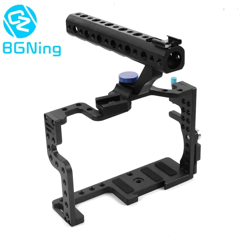Gabbia fotocamera Custodia protettiva di Montaggio per Panasonic GH3/GH4 con Top Handle Grip Macchina Fotografica Photo Studio di Ripresa Kit