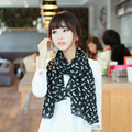 Fashion Women Soft Chiffon Colorful Sweet Cartoon Cat Kitten Scarf Graffiti Style Shawl Girls Christmas Gift Fast Shipping