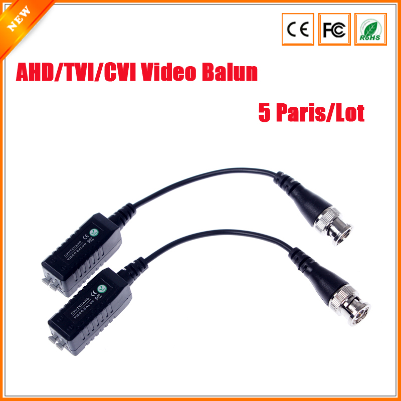 bilder für 5 Pairs CCTV Video Balun Transceiver HD-CVI TVI AHD Passive Video Balun 1 Kanal CCTV BNC Für AHD TVI CVI 1080 P 720 P
