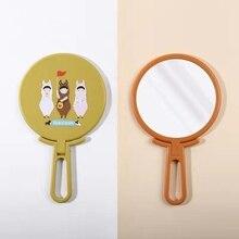 Цвета: розовый, синий, черный, оранжевый, милая девушка, удобное складное зеркало, изысканное, компактное зеркальце для макияжа складывающиеся зеркала