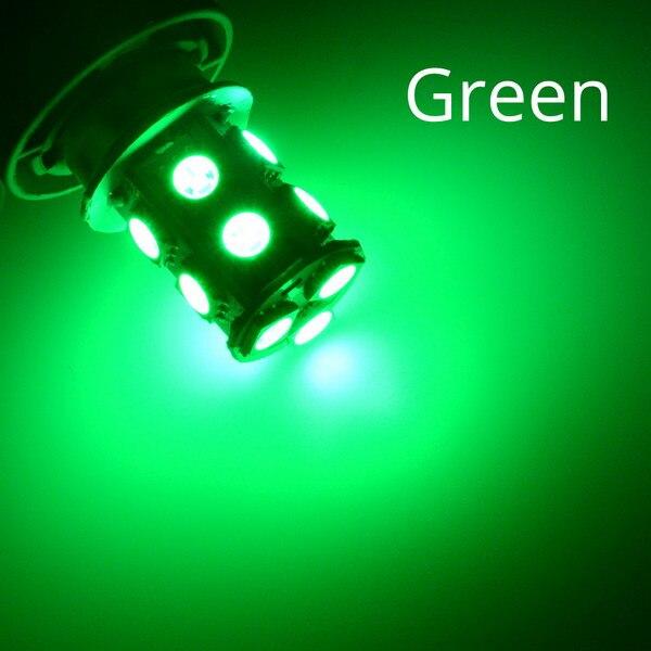 1156 BA15S 1157 BAY15D P21W BA15D 13Led 5050 Автомобильные светодиодные поворотные парковочные сигнальные огни, тормозные задние лампы, автомобильные задние лампы заднего хода, DC 12 В - Испускаемый цвет: Зеленый