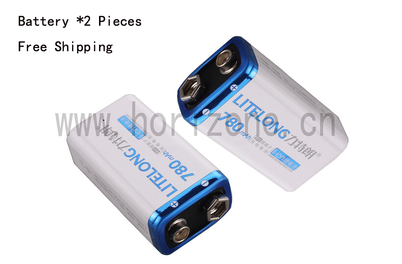 2PCS/LOT Free Shipping Batterie 9V Li-ion 780mAh  Rechargeable Accu Battery microphone Pile Accus Lithium ion PP3 cp1w ext01 new and original omron plc communication adapter