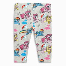 Littlemandy Rainbow Unicorn Girls Leggings Flower Applique Kids 100% Cotton 2018 Brand Brand Children Trousers Pants Clothes